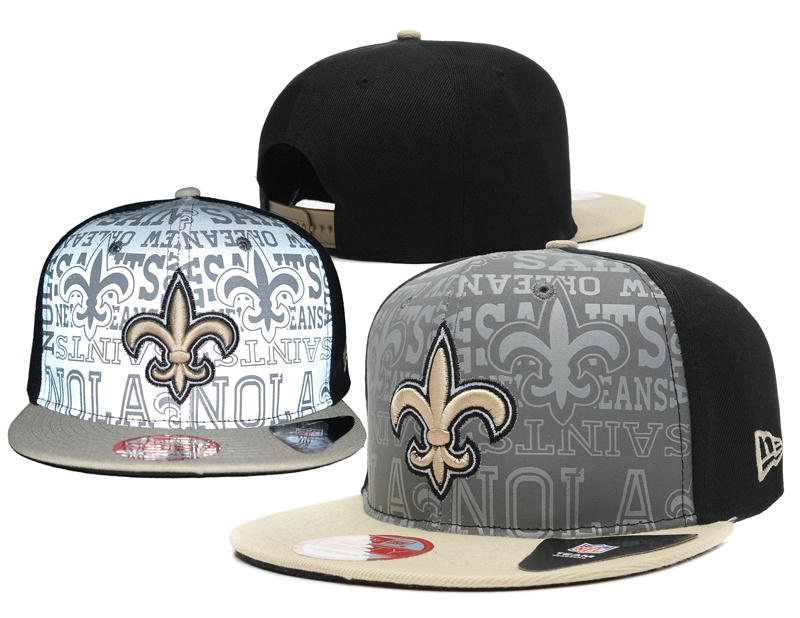 New Orleans Saints 2014 Draft Reflective Snapback Hat SD 0613